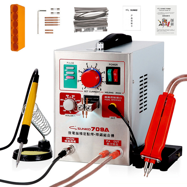 SUNKKO 709A Spot Schweißer 1,9 KW Lithium Puls Batterie Spot Schweißen Maschine Für Lithium Batterie Pack Schweißen Präzision Spot Schweißer