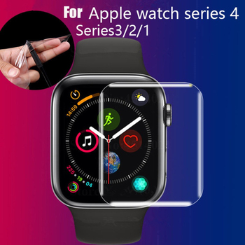 For Apple Watch 6 SE iWatch 40mm 44mm Screen Protector Series 44mm Case Friendly Bubble-Free HD Clear iWatch 3 TPU Flexible fil image