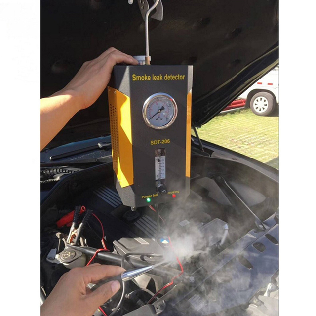 Newest AUTOOL SDT-206 Car Smoke Detector Leak Diagnostic tool of Pipe Systems including EVAP for all Vehicle Auto leakage Tester