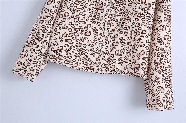 Khaki Shirt with leopard pattern