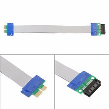 PCI-E 1X To 1X Slot Relocate Male To Female Riser Card Extender Flexible Extension Cord Cable Ribbon Wire(China)