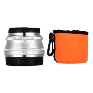 Image 5 - Andoer 25 مللي متر F1.8 عدسات تركيز يدوية بفتحة كبيرة للتصوير الفوتوغرافي لكاميرا فوجي فيلم FX Mount Mirrorless Canon EOS Olympus