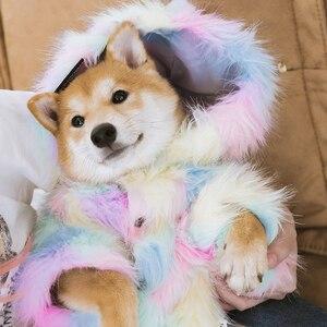 Image 3 - Vêtements pour animaux domestiques, veste mignonne pour chiens et chats, chemise en fourrure arc en ciel, pour chiots, pour chiots, France, Bulldog, Yorkshire ropa perro