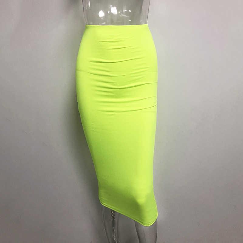 Colysmo, Двухслойная юбка-карандаш средней длины с высокой талией, облегающая длинная юбка, хлопковая юбка макси, белые летние юбки, женские юбки, Saia Midi, Новинка