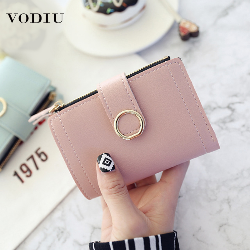 New 2019  Women Wallets Small Fashion Zipper Purses Ladies Card Bag Soild Clutch High Quality Female Purse Money Clip Wallet