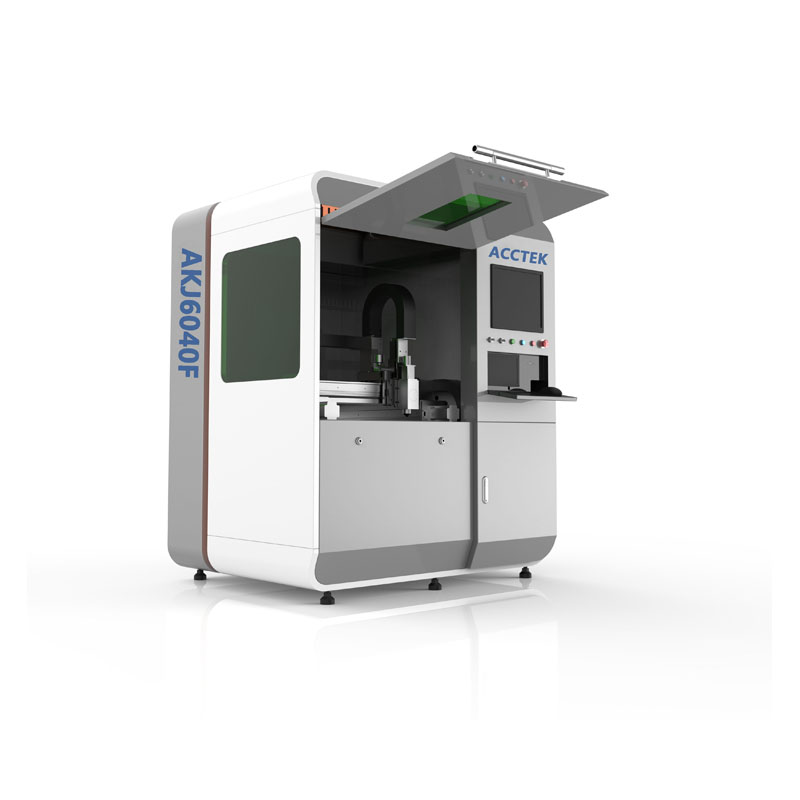 Jinan Cnc Fiber Laser Cutting Machine For Steel Sheet AKJ6040F/ WSX Cutting Head Fiber Laser Cutting Machine For Russia