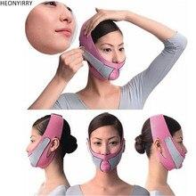 رقيقة الوجه رفع مدلك الوجه التخسيس قناع حزام آلة تدليك الوجه المضادة للتجاعيد تقليل مزدوج الذقن ضمادة الوجه المشكل