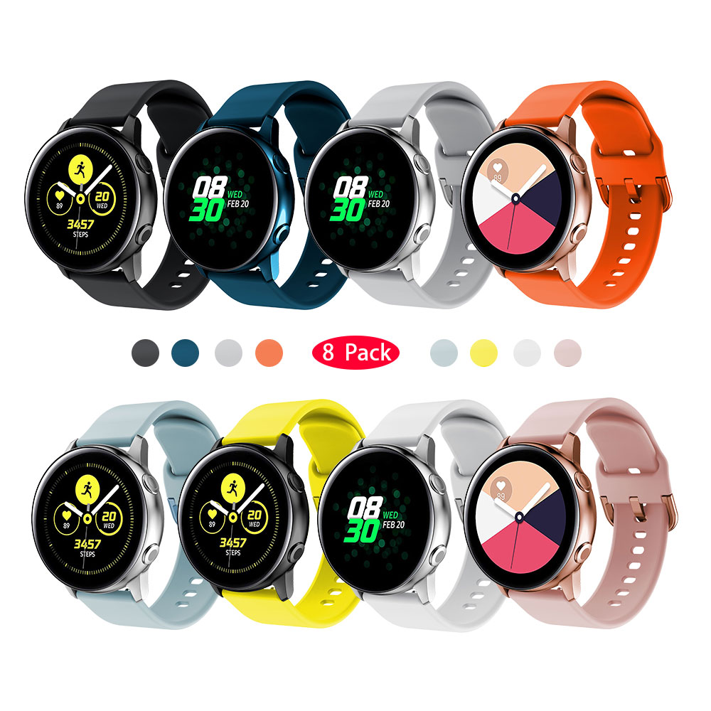 YAYUU Silicone Original Sport Watchband For Galaxy Watch Active 2 Smart Strap For Samsung Galaxy 42mm Watch Replacement Band