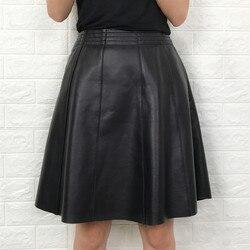 Echtes Leder Mini Saia Röcke für frauen Echt Schaffell Rock Elegante Damen Büro Tragen Koreanische Frühling Kleidung LWL1600