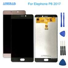 새로운 Elephone P8 ( 2017 ) 1920*1080 5.5 인치 Andriod 7.0 LCD 디스플레이 + 터치 스크린 Digitzer 어셈블리 p 8 수리 패널 유리