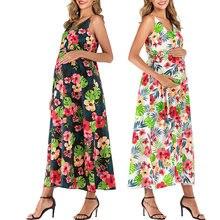 Женское платье для беременных с цветочным рисунком элегантное