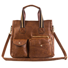 купить bags for women 2019,The new vintage high-capacity handbag is stylish and versatile with a single shoulder, cross-body bag по цене 1606.24 рублей