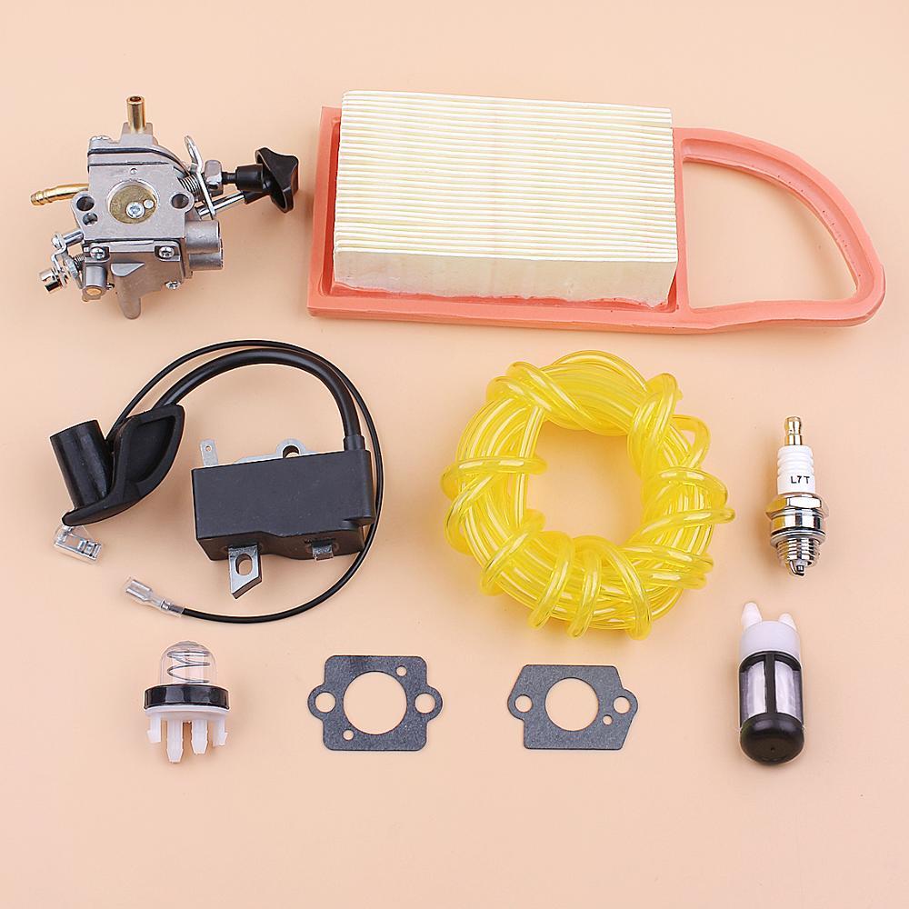 Carburetor Ignition Coil Air Filter Fuel Line Kit For STIHL BR500 BR550 BR600 Backpack Blower Zama C1Q-S183 OEM 4282 400 1305