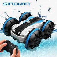 Sinovan-coche anfibio teledirigido 2 en 1, 2 en 1 coche teledirigido con rotación de 360 °, coche acrobático impermeable, juguetes para niños