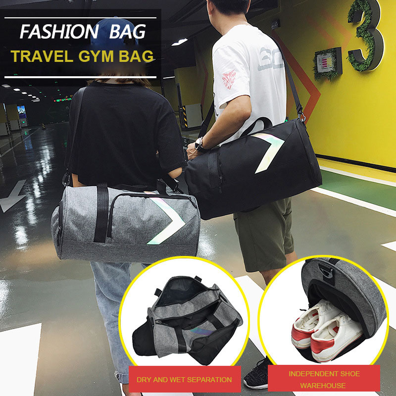 Dry And Wet Fitness Bag Fashion Gym Tas Sac A Dos Sport Outdoor Women Sports Bags For Men Gym Bag Shoe Compartment Training Bag 6