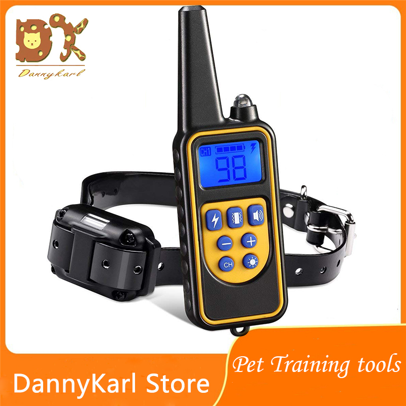 DannyKarl Pet <font><b>Electric</b></font> <font><b>Dog</b></font> <font><b>Training</b></font> <font><b>Collar</b></font> Pet <font><b>Remote</b></font> Control Waterproof Rechargeable LCD Display All Size Bark-stop 800m <font><b>Collar</b></font> image