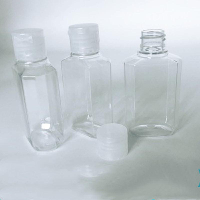 1/5Pcs 60ml Portable Travel Clear Empty Refillable Sanitizer Liquid Soap Bottle Water-free Hand Sanitizer Plastic Bottles