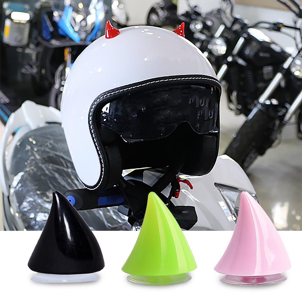 Multi-Colored Horn Decoration Motorcycle Waterproof Personality Horn Decoration Rubber Headwear Accessories-Black Motorbike Helmet Corner Decoration
