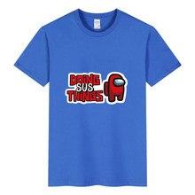 2021 new game T-Shirt Kids' hot sale 3D boys and girls 4-14t children's short sleeve casual Sweatshirt football between us