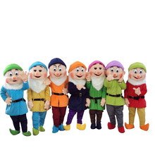 Cosplay Snow princess and 7 Dwarfs Mascot Costume Cartoon character costume Advertising Costume Party Costume animal carnival