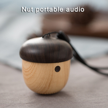 J2 Wooden Nut Wireless Mini Bluetooth Speaker Stereo Sound Bag Pendant  AS99