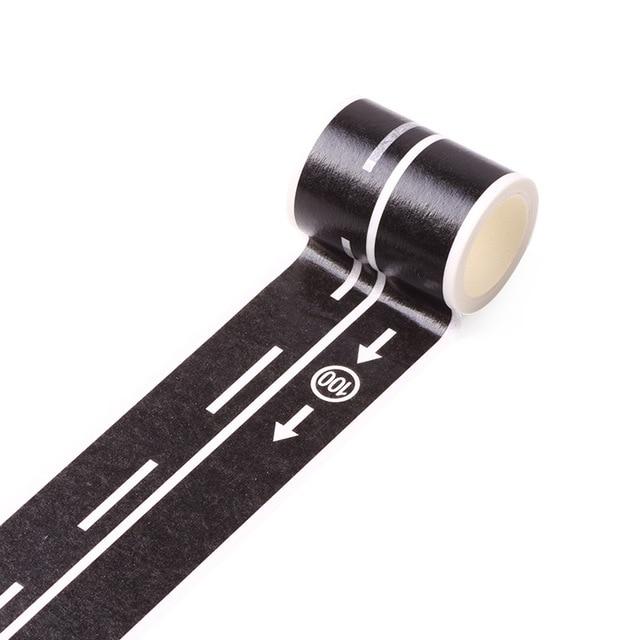 5m Railway Road Traffic Tape Washi Tape Sticker DIY Road Traffic Road Adhesive Masking Tape Car Stickers For Kids Toy Car Train