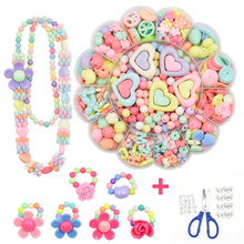 Children DIY Handmade Beaded Toy With Accessory Set Creative Girls Jewelry Bracelet Making Toys Child Educational Toys for Gift(China)