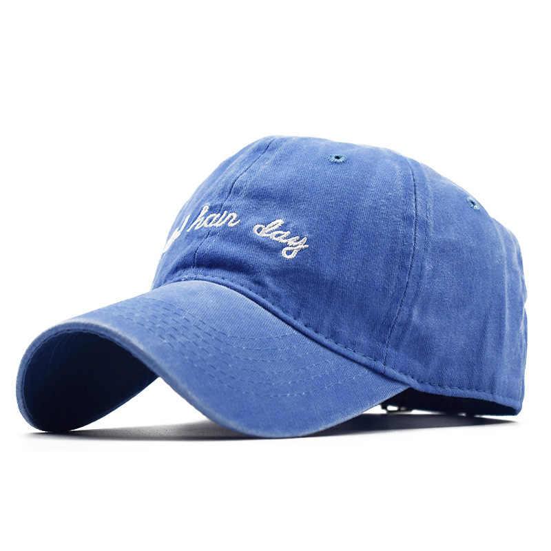 ¡Novedad de 2019! Gorra de béisbol de tela vaquera Retro Para hombres y mujeres, gorra bordada con letras Bad Hard Day, sombrero de papá para hombre