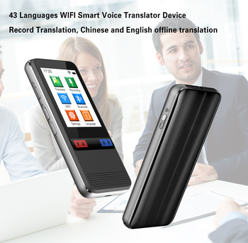 XYCING W5 43 Languages WIFI Smart Voice Translator Device, Record Translator, Chinese and English Offline Translator