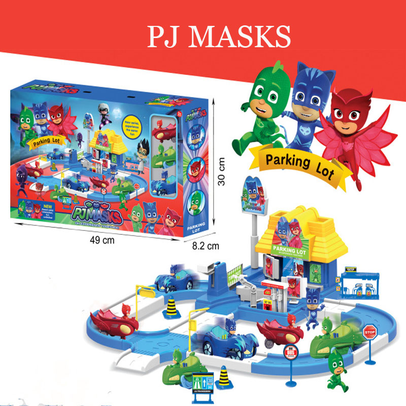 Pj Mask 1 Villa 3 Cars 3 Dolls Model Catboy Owlette Gekko Figure Masks Set Assemble Toy Interesting Games For Children Gift