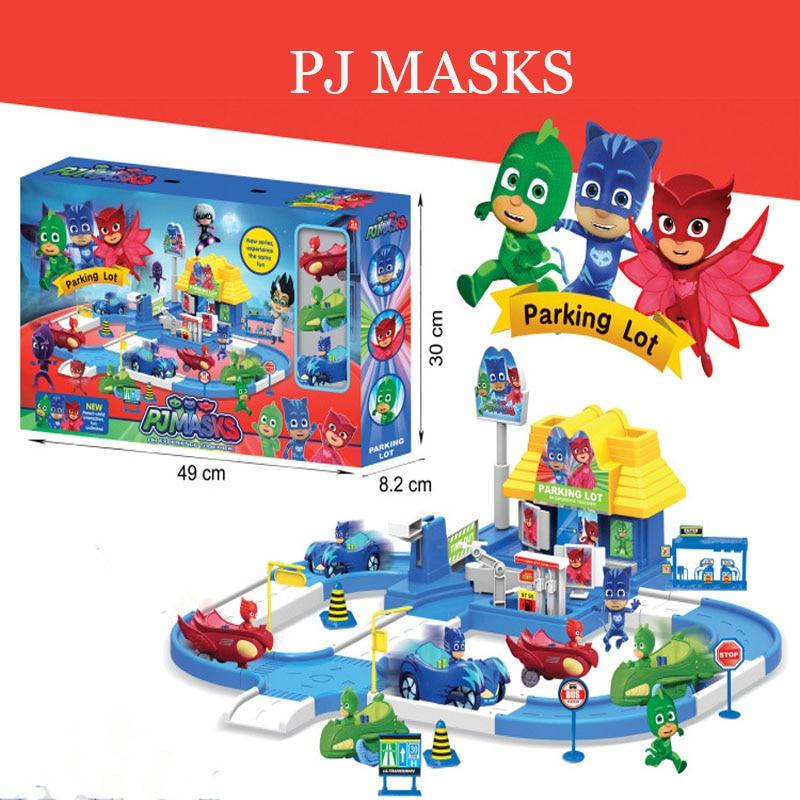 Pj Mask 1 Villa 3 Cars 3 Dolls Model Catboy Owlette Gekko Figure Masks Set Assemble Toy Interesting Games For Children Gift