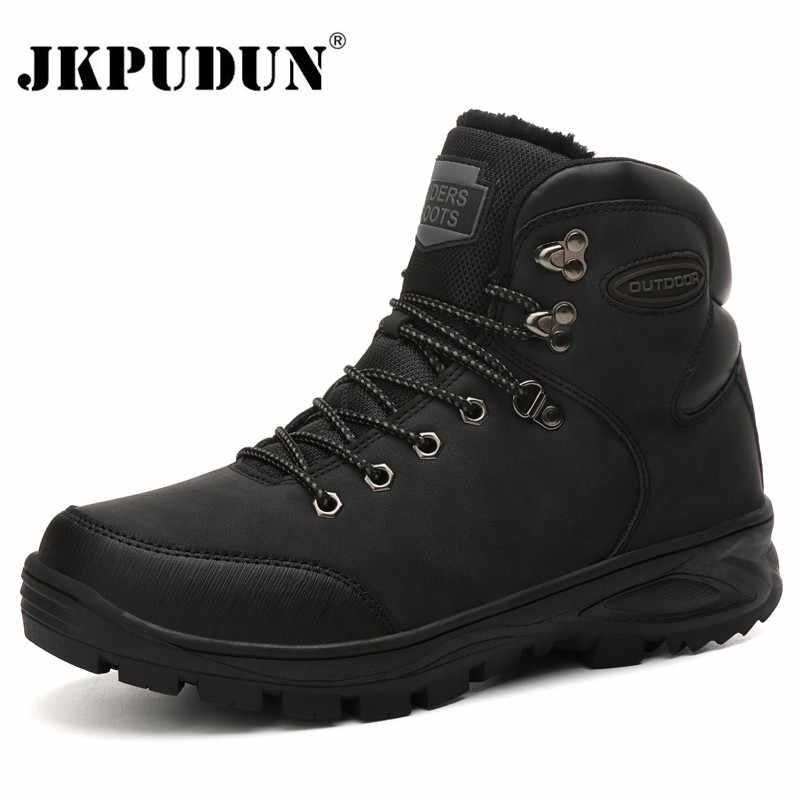 Tactical Military Snow Boots Men Genuine Leather US Army Hunting Trekking Camping Mountaineering Winter Work Shoes Ankle Boots