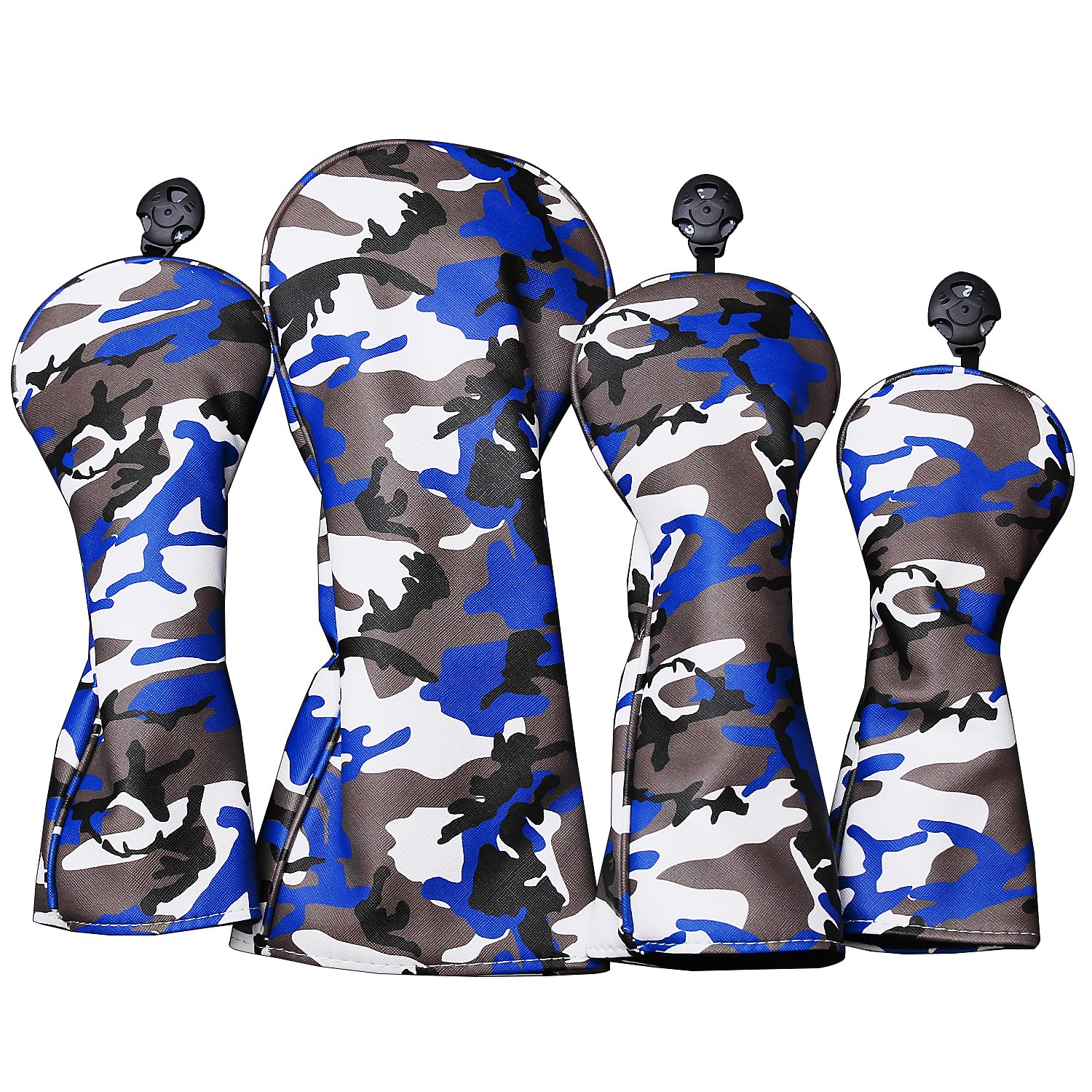 Free Shipping Camouflage Golf Head Covers For Driver Fairways #3 #5 Hybrids Waterproof Pu Leather Golf Clubs Wood Cover Set