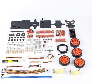 Image 5 - SunFounder פטל Pi 4B/3B/3B + חכם רובוט רכב ערכת PiCar S קו הבא קולי חיישן אור הבא מודול רובוט קיט