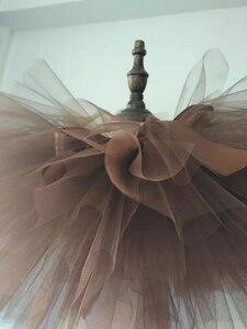 Коричневый цвет; ручной работы; пушистый балетный танцевальный костюм для девочек; юбка-пачка