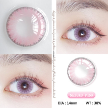 1pair/2pcs Pink Colored Contact Lenses for  Eyes Nezuko Cosplay Eyecontacts Lens