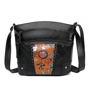 2020 New Women Shoulder Bags Female  Crossbody Leather For Ladies Designer Flower Handbag