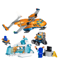 28021 Small Building Blocks kids toys city Arctic Supply Plane model kit Bricks Educational Toys for children Gift Compatible