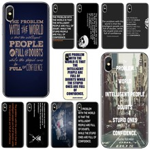 Soft Skin Case For Xiaomi Mi5 Mi5S Mi6 Mi3 Mi4 Mi4i Mi4C Redmi Note 2 3 3S 5 5A 6 6A Pro the stupid ones are full of confidence(China)
