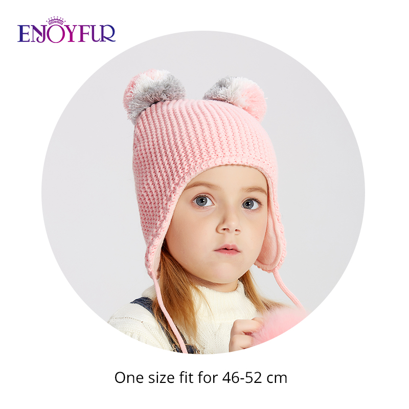 Baby Autumn Winter Cable Knitted Warm Hat Beanie Cat Ears Kittens Boy Girl Kids