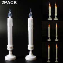 2Pack Flameless LED Candle Banquet candle Electronic Swing Candles Lights For Christmas Party Dinner D40
