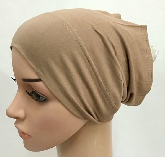 Macio modal interior hijab tampões muçulmano estiramento turbante boné islâmico underscarf bonnet chapéu feminino bandana turbante mujer 2020