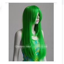 zhaoxia++01492@Q8++Long Grass Green Cosplay Wig Heat Safe