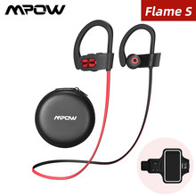 Mpow Api S Nirkabel Bluetooth Headphone APTX HD Earphone Bass Earbud dengan IPX7 Tahan Air 12Hrs Bermain Waktu untuk Menjalankan(China)