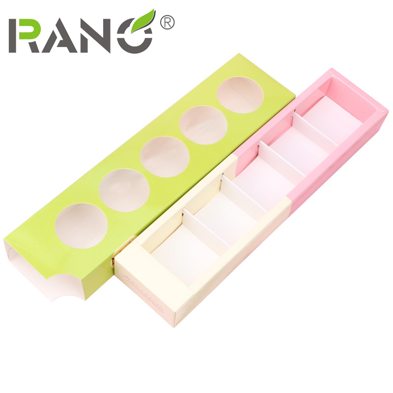 RANO RN-GB14 10pcs Factory wholesale Customized Square Food Grade Boxes With Packaging Macaron Gift box