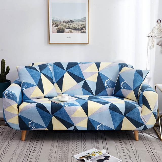Фото 1/2/3/4 местный геометрические диван крышка эластичный стрейч цена