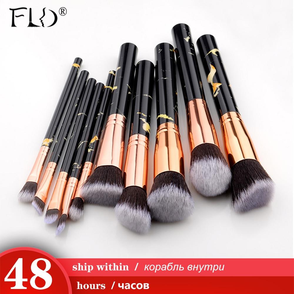 FLD 8 to 10 Pcs per Set Professional Makeup Brush Kit for Blending Foundation Eye Shadow Lipstick Eyeliner and Blush 1