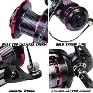 Image 3 - Bobina di pesca HC 500 6000 Durevole del Metallo Bobina Bobina di Filatura 8KG Pike Nero Rosso bobina di Filatura Ad Alta Velocità bobina di bobina di Pesca Strumenti