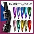 УФ-гель для ногтей UR SUGAR7.5ml 9D кошачий глаз Магнитный лазерный Сияющий эффект павлина отмачиваемый УФ-Гель-лак для ногтей долговечный