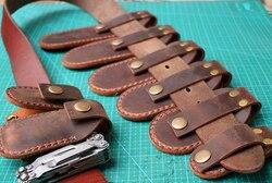 Handmade Pouch Schweizer Leatherman SOG Folding Tool Cover Sheath Knife Holder EDC Belt Scabbard Bag Real Leather Tool Sheath